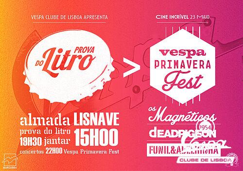 cartaz Vespa Primavera Fest e Prova do Litro