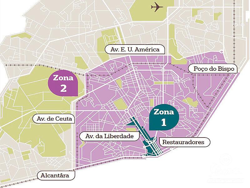 mapa de circulação em lisboa Vespa Clube de Lisboa   Lisboa avança a 3ª fase da Zona de  mapa de circulação em lisboa